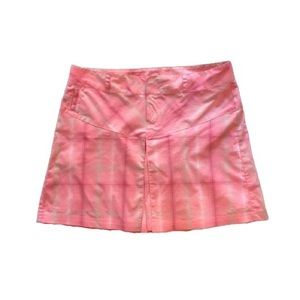 Columbia Shorts Pink Plaid Titanium Omni-Dry